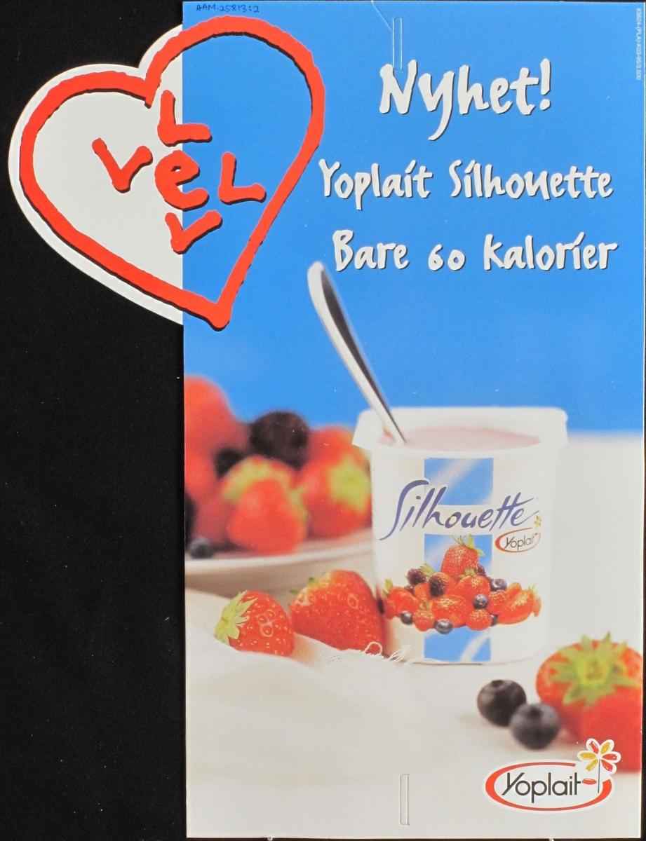 Yoghurtbeger, jordbær, hjerte.
