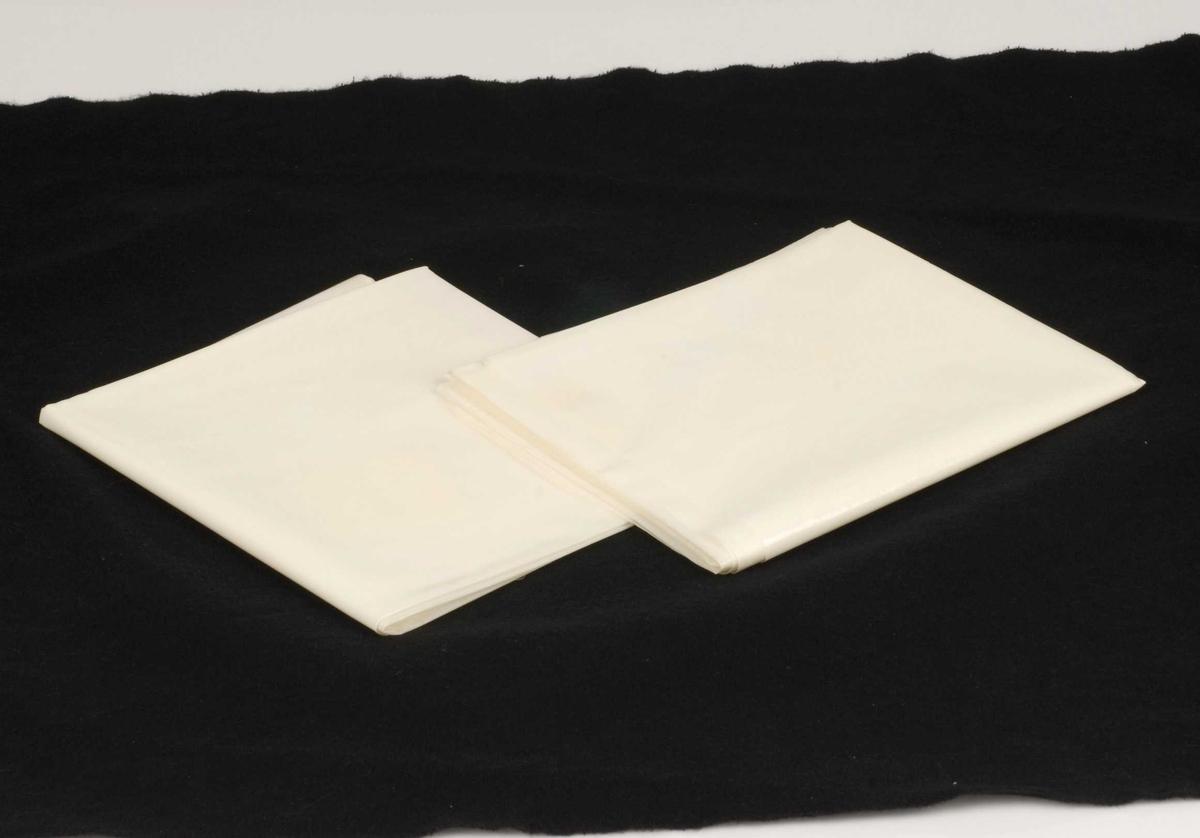 Plastbelagte stikklaken med blank overflate.