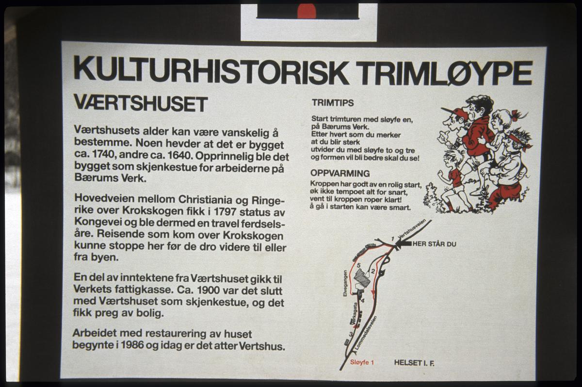 Bærums Verk, skiltet kulturhistorisk løype
