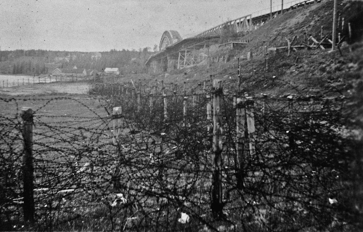 Tyske forsvarsanlegg ved Minnebrua.