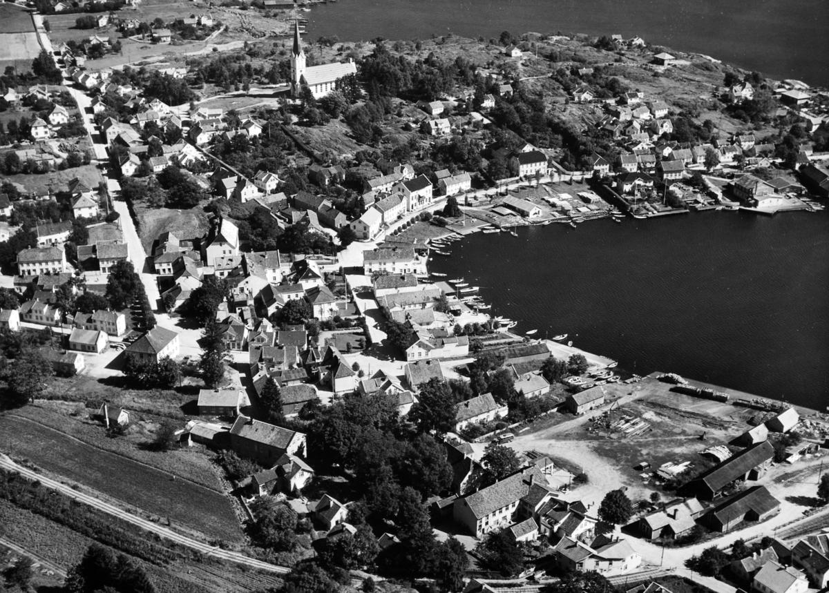 Lillesand, flyfoto, Foto Normann 1946-1950, flyfoto nr. 70.