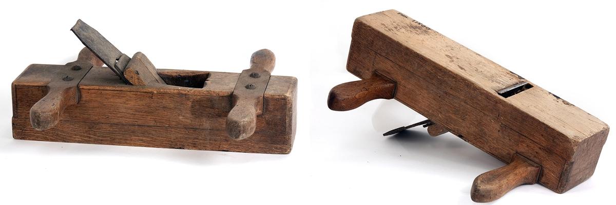Høvel med dobbelthåndtak i hver ende.