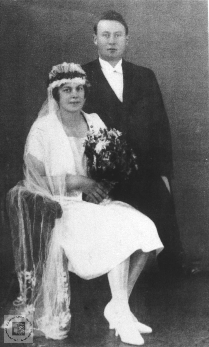 Ekteparet Olga og Knut Ask. Bjelland