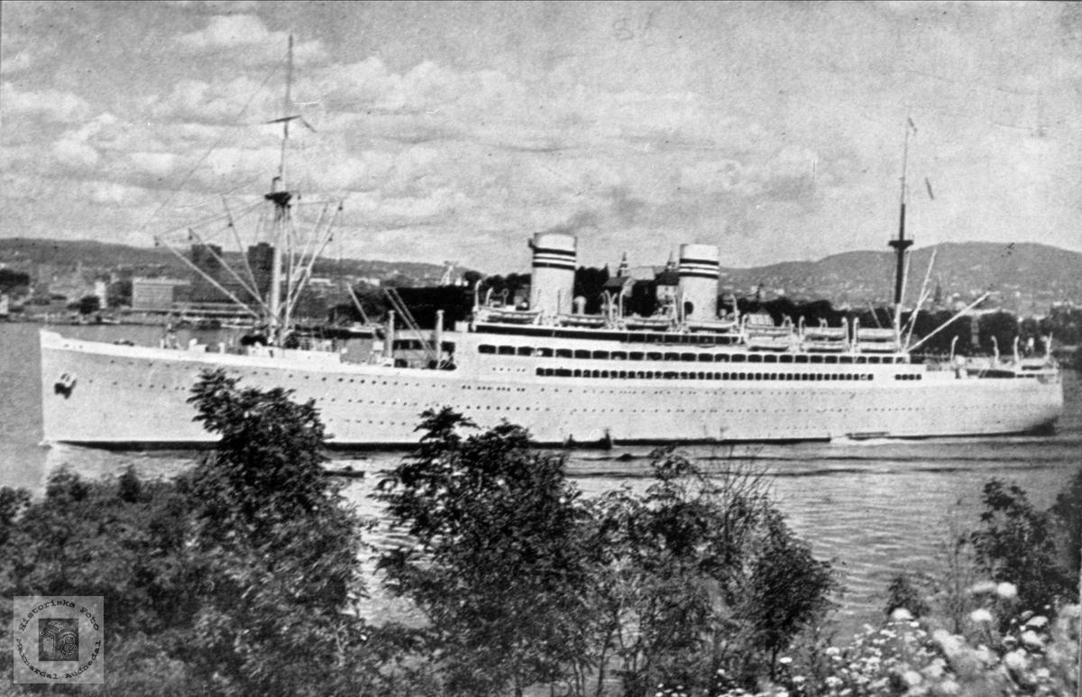 """Amerikabåten """"Stavangerfjord""""."""