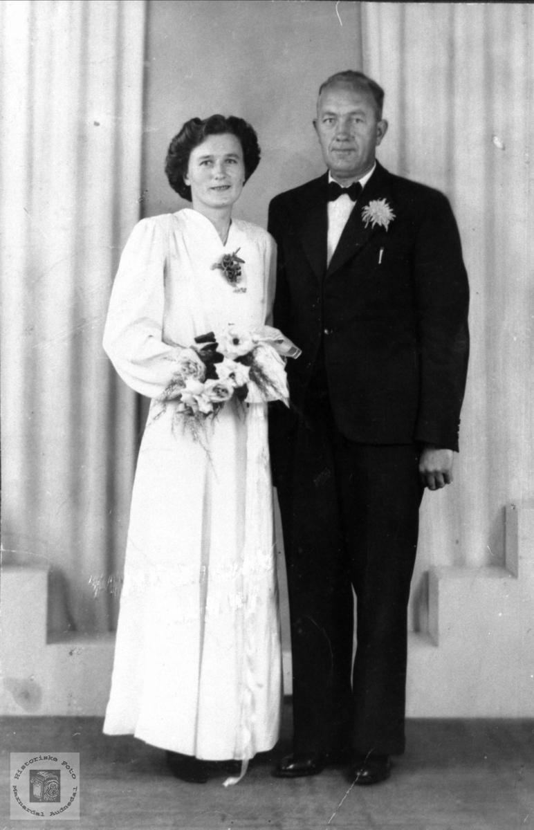 Brudeparet Anna og Targeir Flystveit, Åseral og Øyslebø.