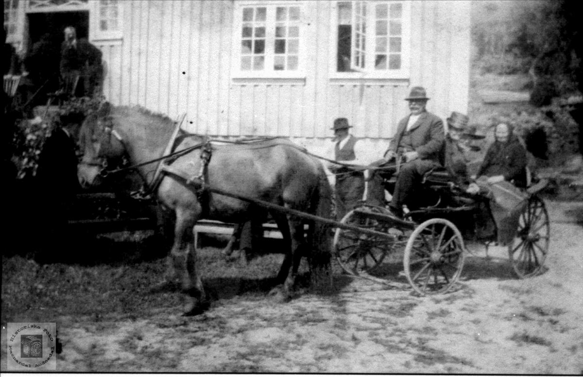 Hesteskyss, sansynligvis Heddeland folk, Øyslebø.