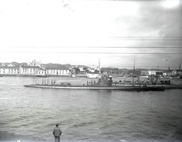 Örlogsbesöket i Marstrand.18-24 juli 1923. 4 st. Kopierade.
