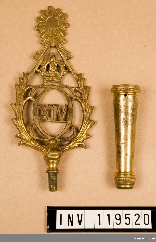 Med Karl XIV Johans monogram.