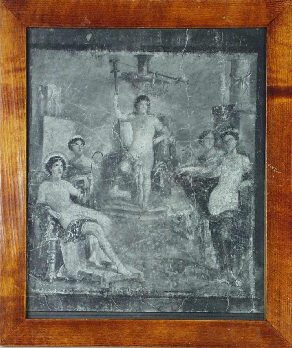 Et freskomaleri fra Pompeii, fem skikkelser.