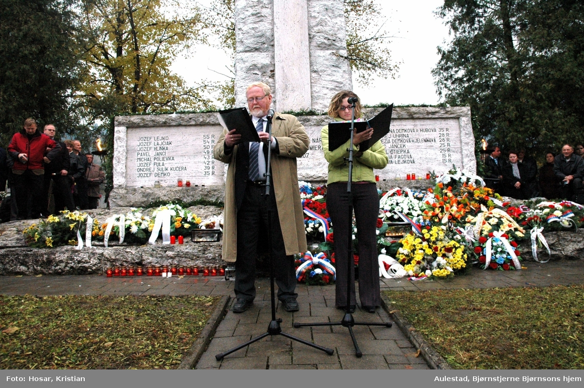 DOK:2007, Cernova, tale, Anders Ole Hauglid, minnemarkering,