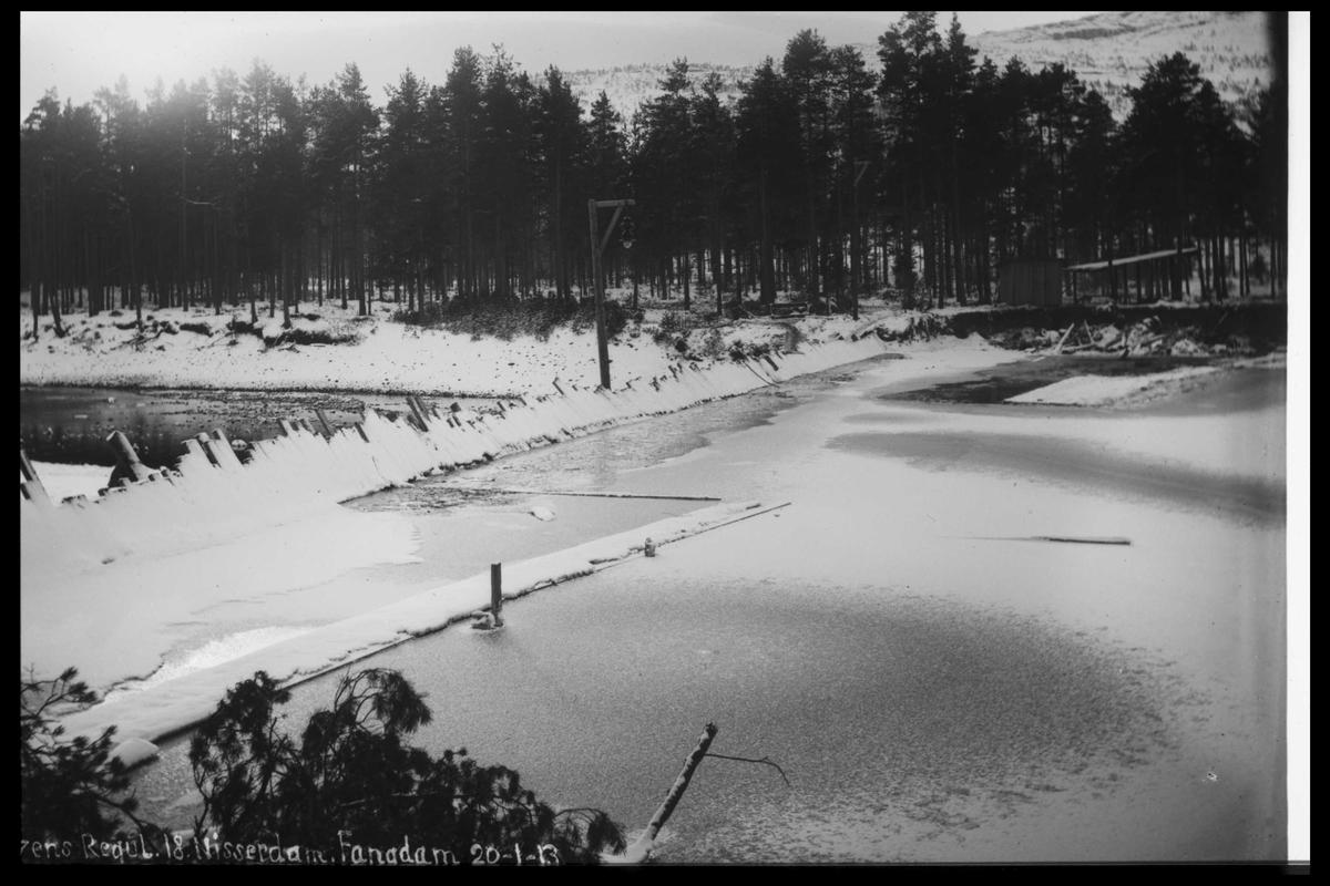 Arendal Fossekompani i begynnelsen av 1900-tallet CD merket 0446, Bilde: 53 Sted: Nisserdam Beskrivelse: Regulering