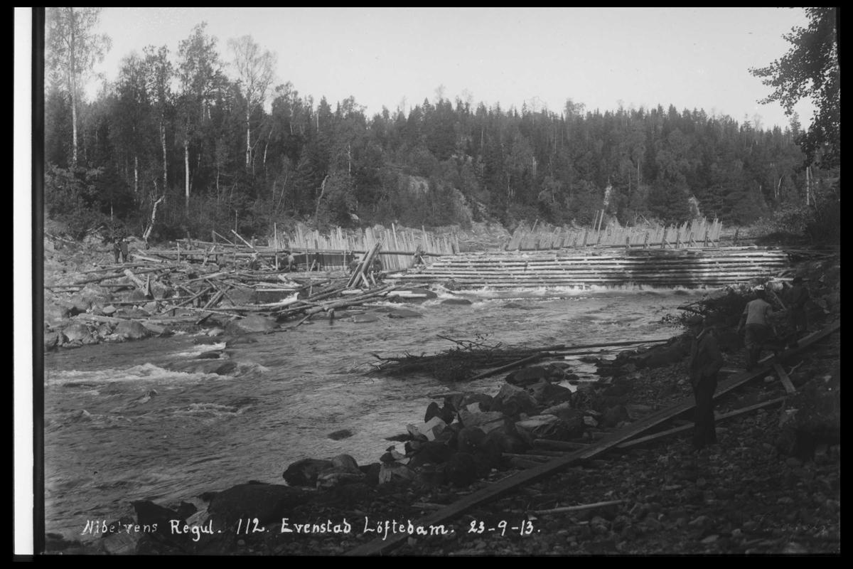 Arendal Fossekompani i begynnelsen av 1900-tallet CD merket 0474, Bilde: 96 Sted: Evenstad løftedam Beskrivelse: Damanlegget