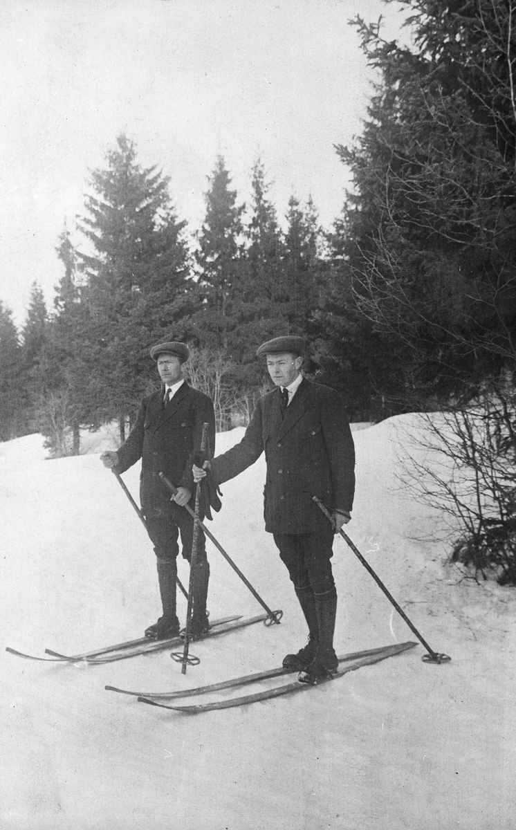 Einar og Leif på skitur